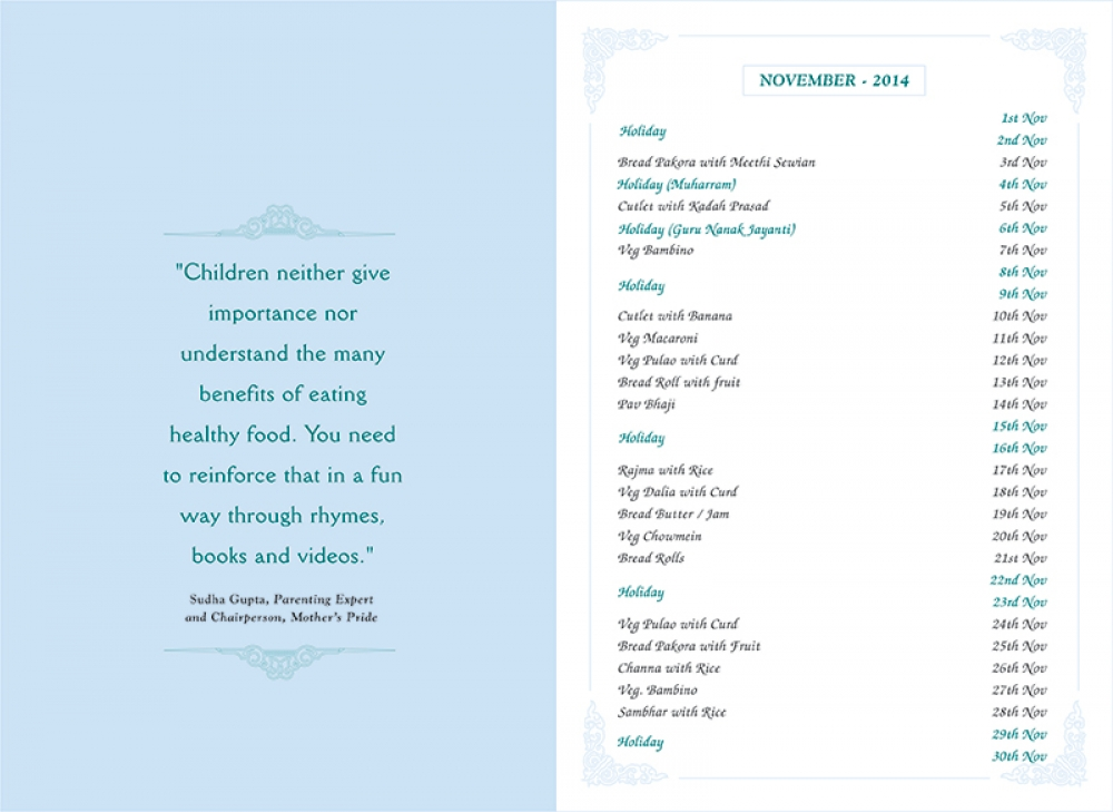 Menu Card, September, 2014