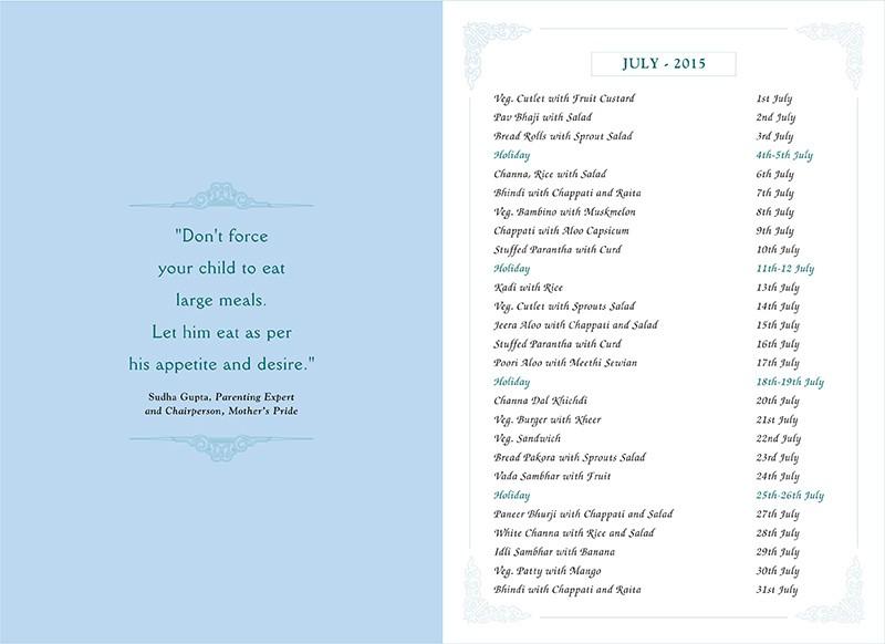 Menu Card, July, 2015