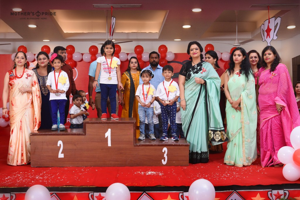 SUDHA MA'AM GRACES THE SPORTS DAY PRIZE DISTRIBUTION CEREMONY