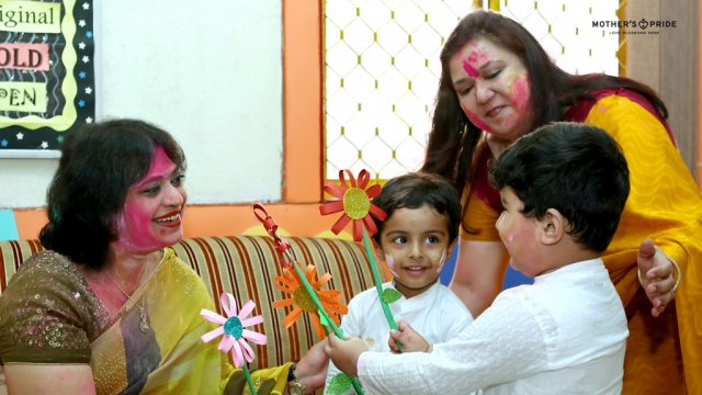 A COLOURFUL HOLI CELEBRATION WITH OUR DEAR SUDHA MA'AM!