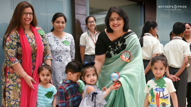 LITTLE PRIDEENS CELEBRATE EARTH DAY WITH CHAIRPERSON, MRS.GUPTA