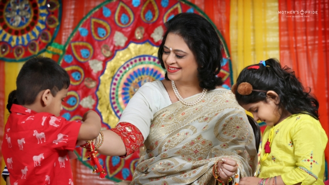 BELOVED SUDHA MA'AM MAKES RAKSHABANDHAN SWEETER FOR PRIDEENS