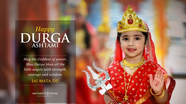 MAY MAA DURGA SHOWER HER BLESSINGS ON ALL OUR LITTLE PRIDEENS