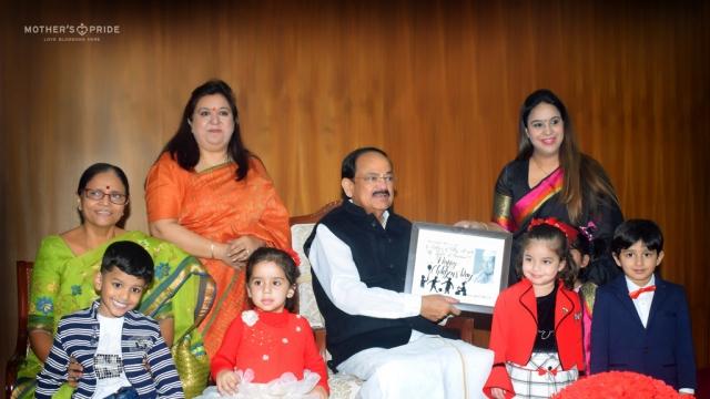 SHRI VENKAIAH NAIDU MAKES CHILDREN'S DAY SPECIAL FOR PRIDEENS